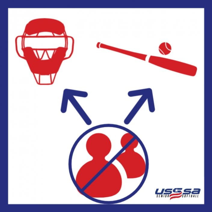 USSSA Senior Softball No Sharing Equipment